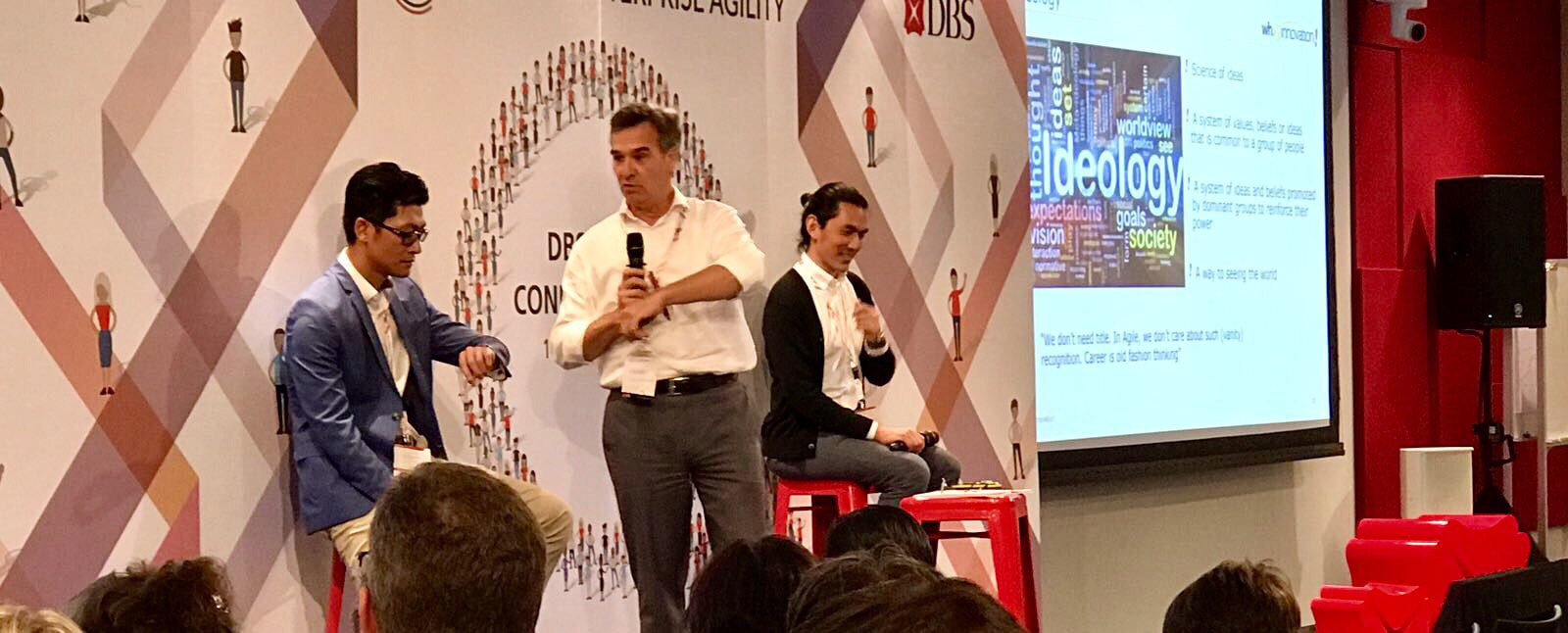 Daryl, Lam and Yann at DBS Agile Conference in Singapore 2017