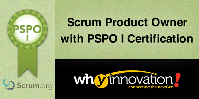 Scrum Product Owner with PSPO 1 Certification